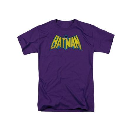 DC Comics Classic Batman Logo Distressed Adult T-Shirt Tee