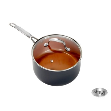 As Seen on TV Gotham Steel Non-stick 3 quart pot with lid