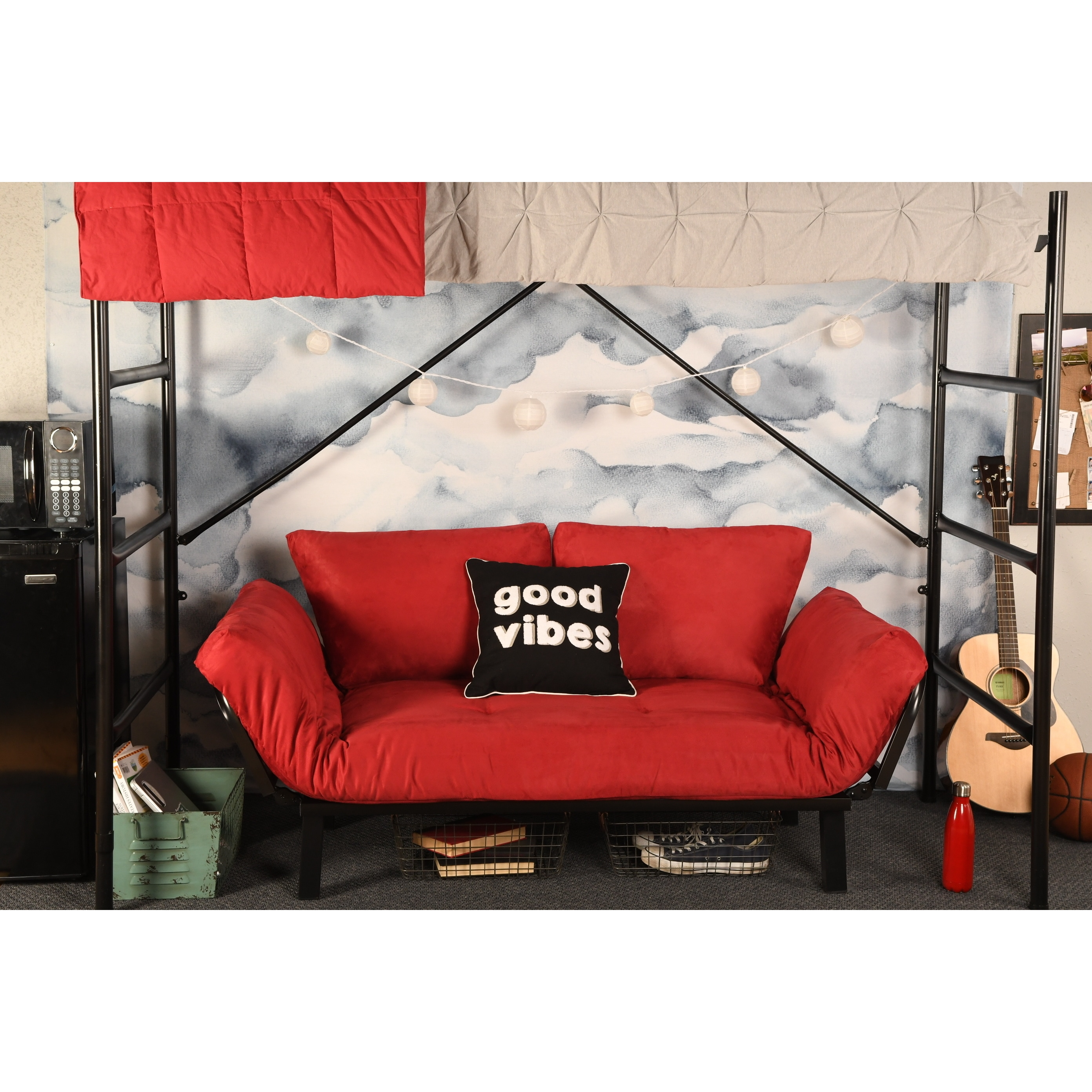 Somette  Dorm Dreamer Futon with Black Metal Finish