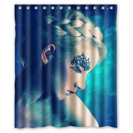 DEYOU Fantasy Blue Angel Shower Curtain Polyester Fabric Bathroom Size 60x72 Inches