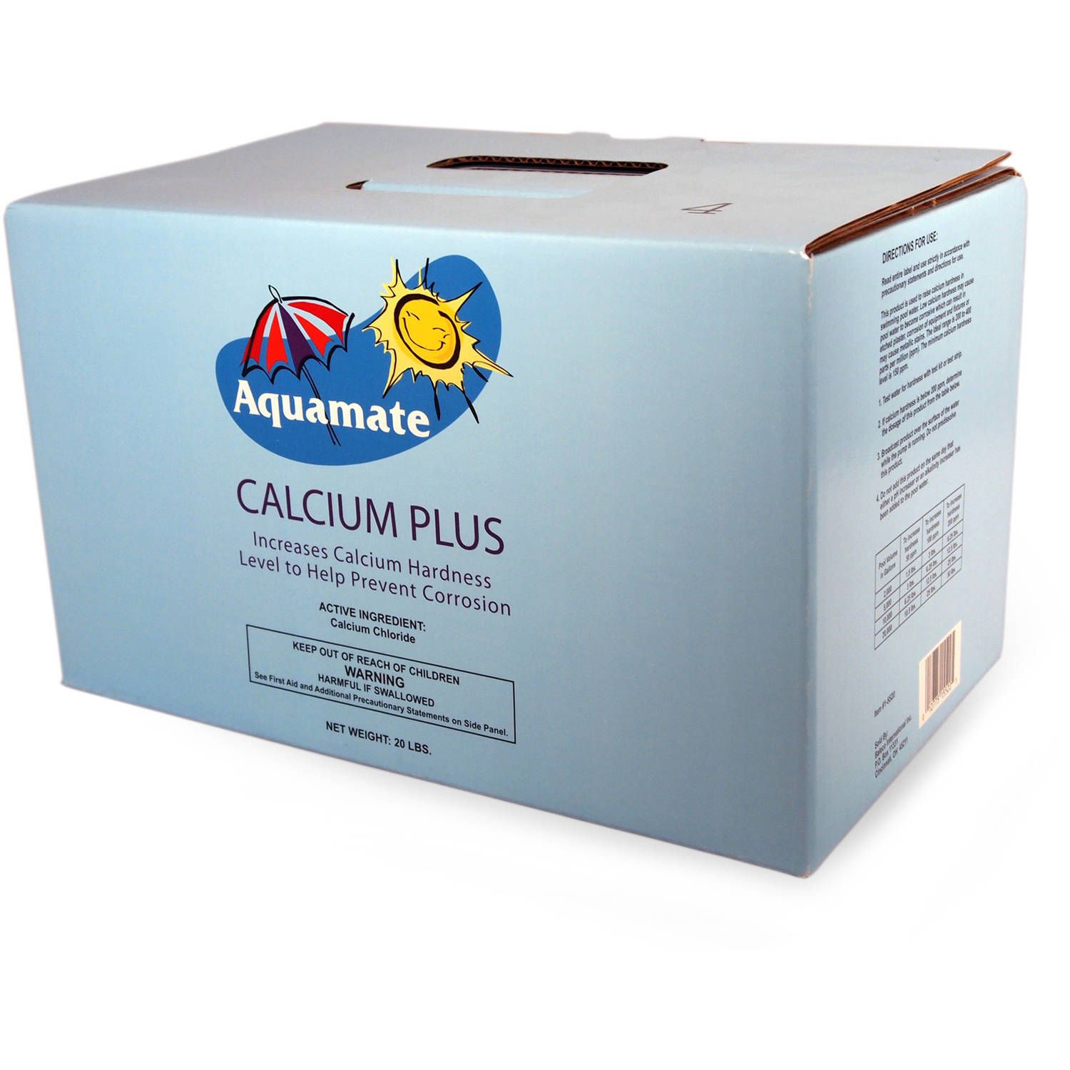 Aquamate Calcium Plus for Swimming Pools, 20 lbs