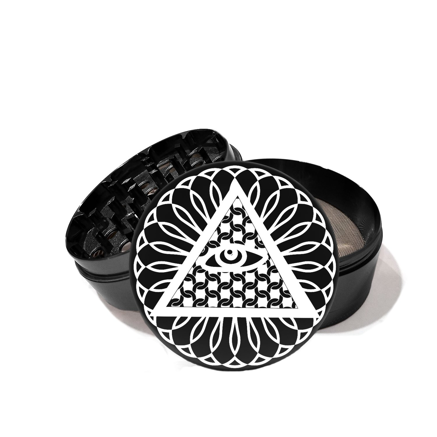 Egyptian All Seeing Eye Pyramid - Laser Etched Grinder