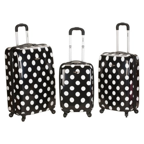 Rockland F151 3-Piece Polycarbonate/ABS Upright Luggage Set