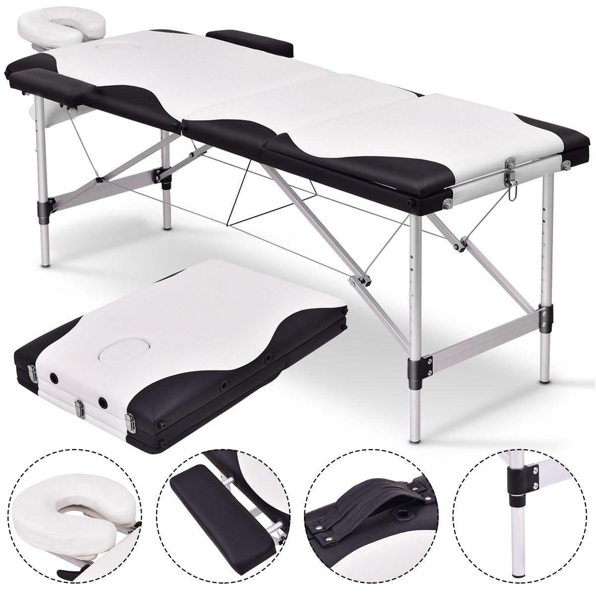 Gymax 72''L Portable Massage Table Aluminum Facial SPA Bed Tattoo