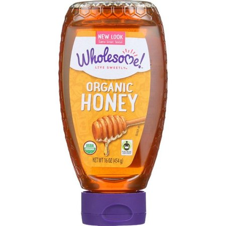 Wholesome Sweeteners Honey - Organic - Amber - Squeeze Bottle - 16 Oz - pack of 6