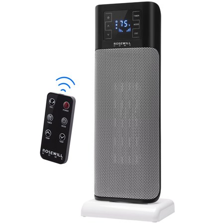 Rosewill Electric Tower Heater Ceramic Portable Oscillating Heater wit