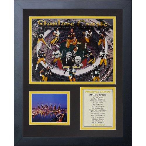 Legends Never Die Pittsburgh Steelers Steeler Greats Framed Memorabili