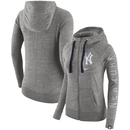 save off a43b2 1498f New York Yankees Nike Women's Vintage Full-Zip Hoodie - Gray
