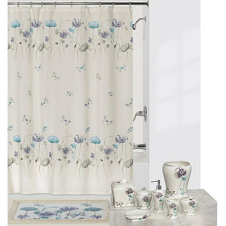 Better homes and gardens 15 piece geometric bath set - Better homes and gardens shower curtains ...