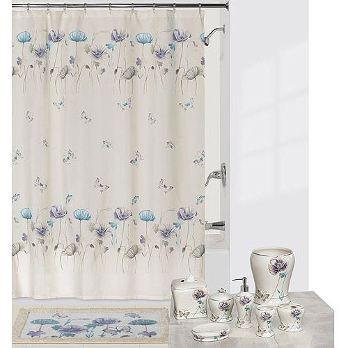 Creative Bath Garden Gate Shower Curtain, Lilac