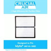 1 Pack of Crucial Air Replacement Air Purifier Filter Compatible with Idylis Part # IAF-H-100D, Fits Idylis D Air Purifier Filter IAP-10-280 Model, For Home & Office - Air Purifier to Reduce Room Odor