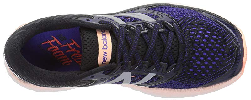 New Balance Women's Shoe, Fresh Foam 1080v7 Running Shoe, Women's Deep Violet/Sunrise, 6.5 B US 9338e4