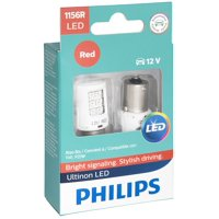 Philips Ultinon LED 1156RLED, Ba15S, Plastic, Always Change In Pairs!