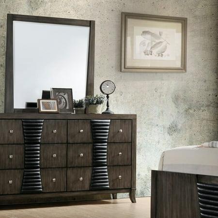 K&B Furniture Ash Grey Wood Bedroom Dresser with Optional Mirror