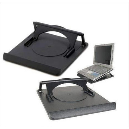 Swivel Laptop Stand: adjustable height rotating desktop computer riser for notebooks under...