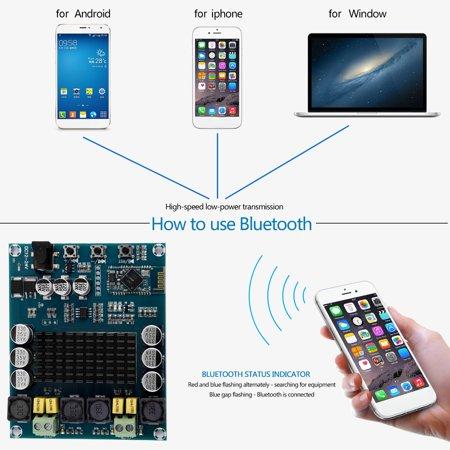 1066 Dual Channel - XH-M548 Bluetooth 4.0 Dual Channel 120W Digital Audio Receiver Amplifier Board