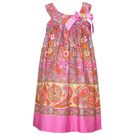 - Bonnie Jean Tween Girls Fuchsia Paisley Bow Sundress   7