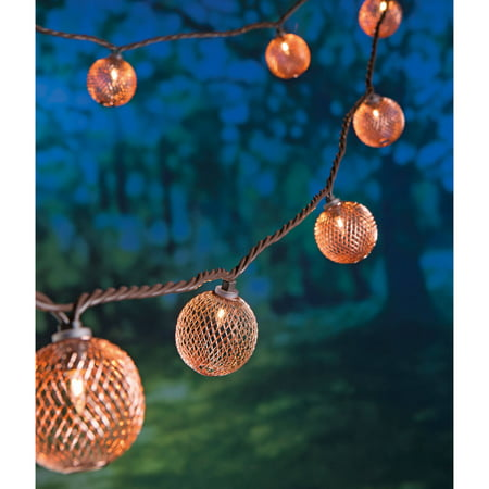 Better Homes And Gardens Rose Gold Metal Mesh String Lights 10ct