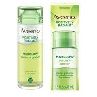 Aveeno Positively Radiant MaxGlow Hydrating Serum + Primer, 1.5 fl. oz