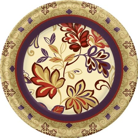 Thanksgiving Dinner Plates - Autumn Theme Dinner Plates - 8 Coun - Thanksgiving Plates