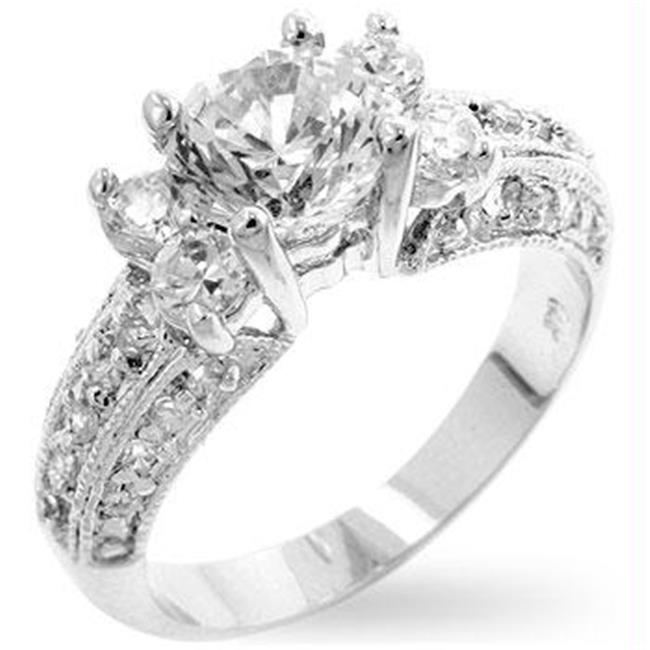 Brilliant Engagement Ring, <b>Size :</b> 08