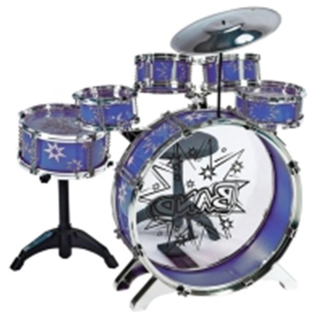 M M Music 28875a Bl Toy Drum Set 7 Piece 44 Blue Walmart Com