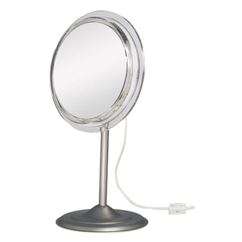 SA47 Zadro Surround Light Pedestal Vanity Mirror with 7x Magnification by Generic