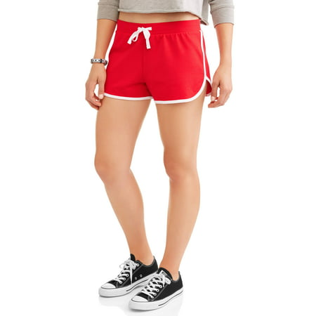 Juniors Basic Knit Shorts with Tie-Front