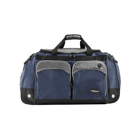 "Travelers Club 28"" Jumbo Multi-Pocket Duffel - Blue 2"