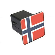"""Norway Flag 2"""" Tow Trailer Hitch Cover Plug Insert"""