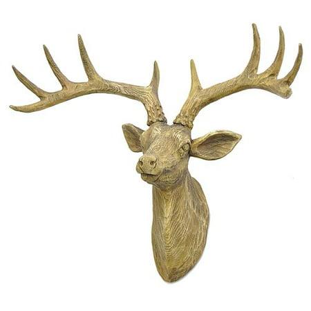 Three Hands Co  Resin Deer Wall D Cor