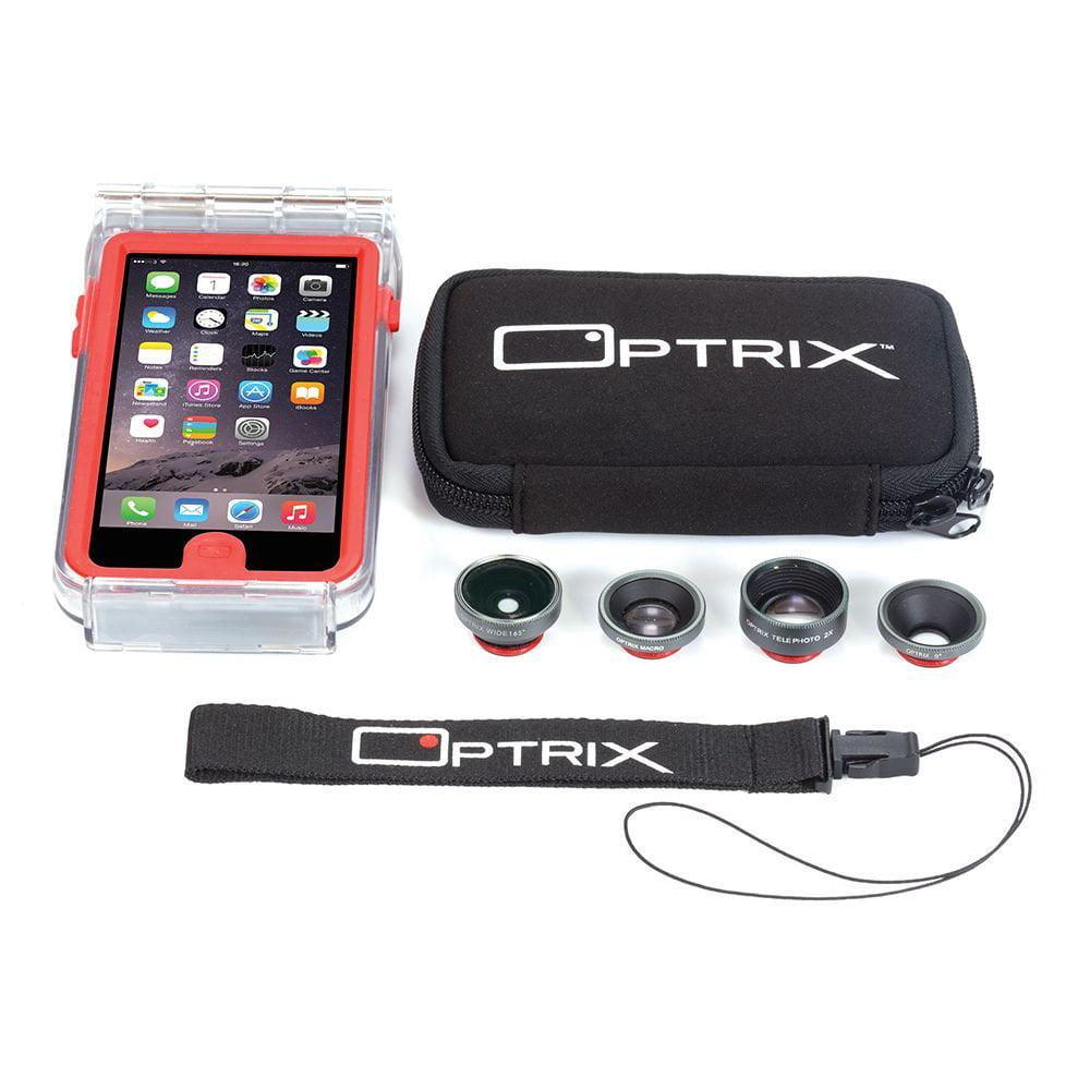 best service df7f2 5639e Body Glove Optrix Pro Apple iPhone 6/6s Interchangeable 4 Lens Kit  Waterproof Case