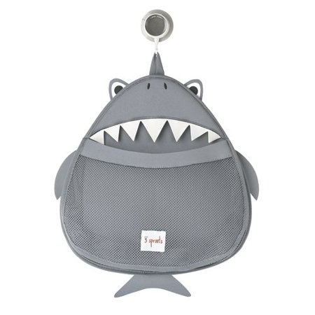 Image of 3 Sprouts Baby Bath Organizer - Shark, Gray