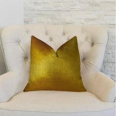 Plutus PBRAZ249-2030-DP Golden Bijou Gold Handmade Luxury Pillow, 20 x 30 in. Queen - image 1 de 3