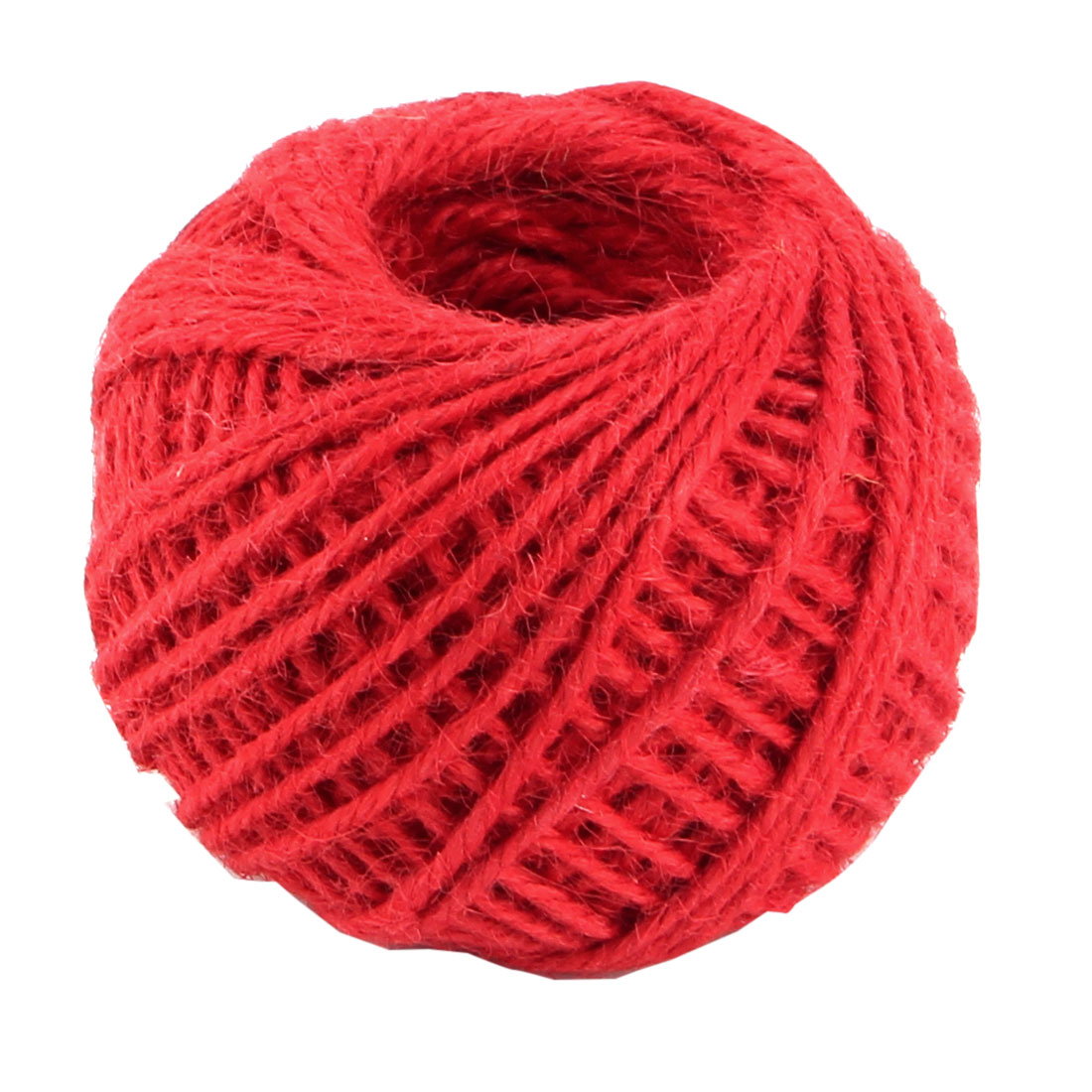 Unique Bargains 2mm Dia 50m Length Red Handcraft Gift Tags Jute Burlap Ribbon Twine Cord Rope String Roll