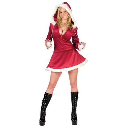 Sexy Hooded Mrs Santa Adult Costume - Mrs Santa Cape