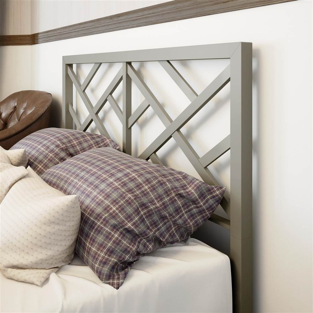 Windmill Headboard in Mat Light Gray Finish (Full: 54.5 in. W x 2 in. D x 47.25 in. H)