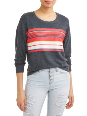 4f9f79caf2f Product Image Juniors  Retro Striped Crewneck Pullover Sweatshirt
