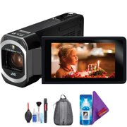 JVC GZ-VX700 Full HD Everio Camcorder with WiFi (Black) + Pro Accessories Bundle
