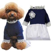 Summer Pet Dress Elegant Lace Princess Dress Puppy Dog Cat Clothes