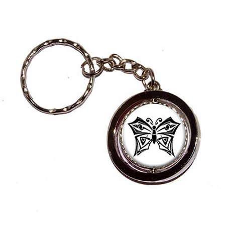 Butterfly Spinning Circle Keychain - No. 1 (R32 Keychain)
