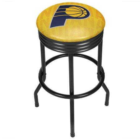 Indiana Pacers Nba Car - NBA Black Ribbed Bar Stool - City - Indiana Pacers
