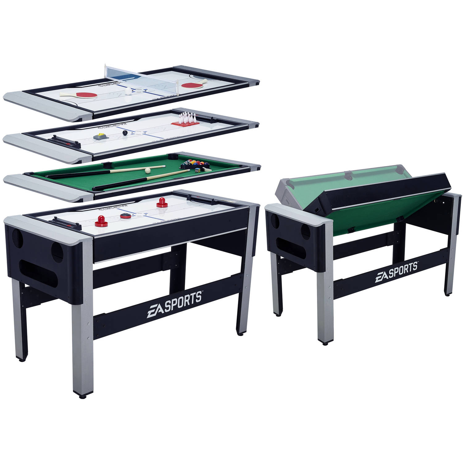 EA SPORTS 54 Inch 4 In 1 Swivel Combo Table   4 Games With Table Tennis,  Hover Hockey, Bowling And Billiard   Walmart.com