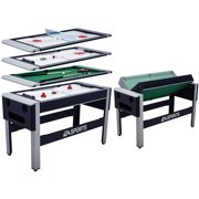 EA SPORTS 54 Inch 4-in-1 Swivel Combo Table - 4 Games with table tennis, hover hockey, bowling and billiard
