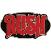 Rush Men's Red Oval Belt Buckle Silver