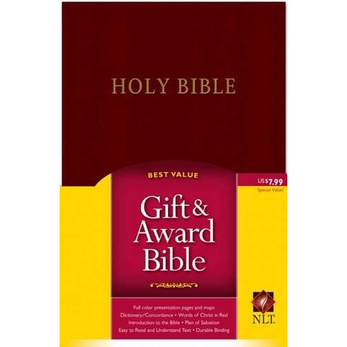 Holy Bible: New Living Translation, Burgundy Leather, Gift and Award Edition