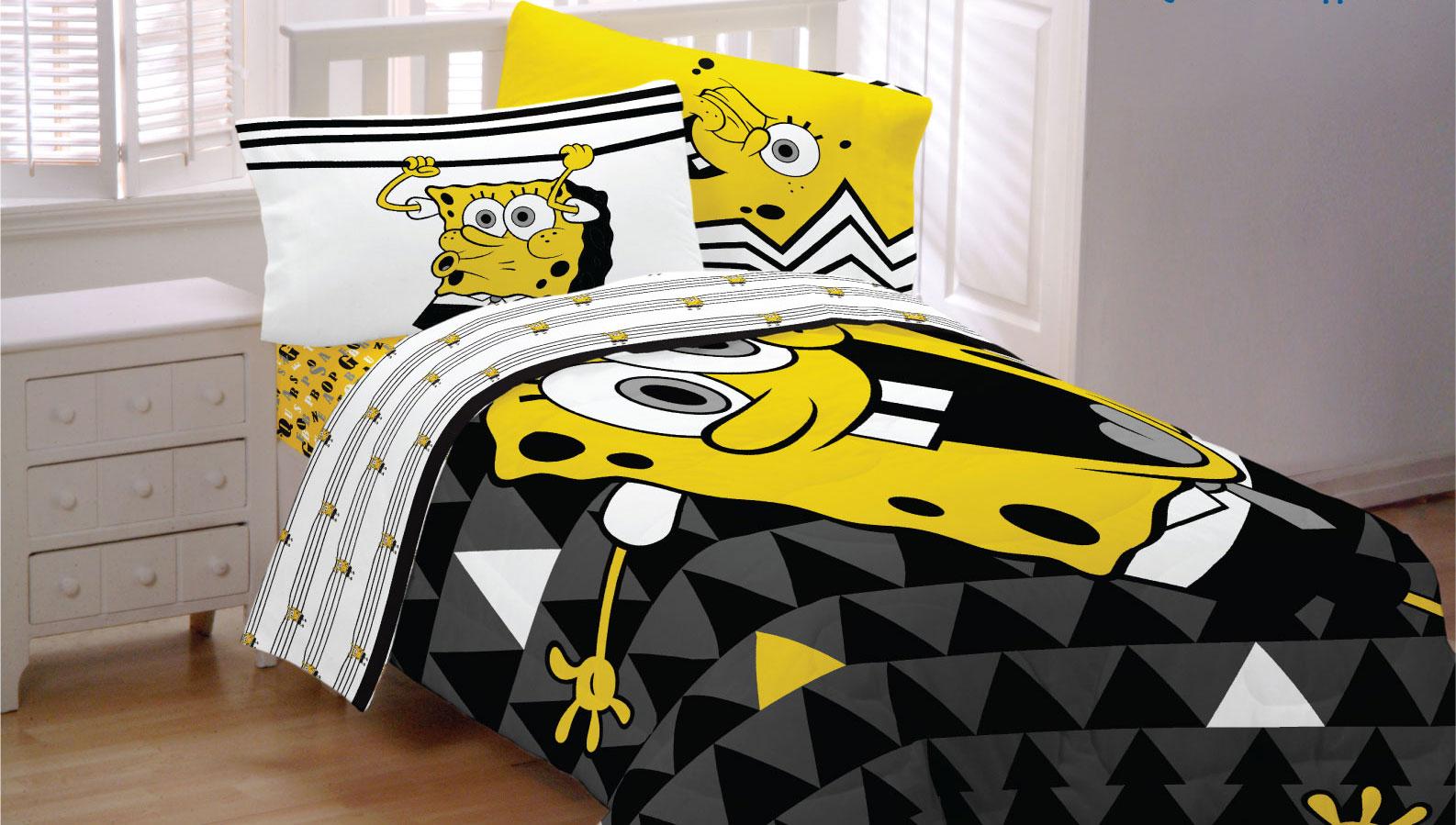 Spongebob Squarepants Bedding Set Try Angle Comforter And Sheet
