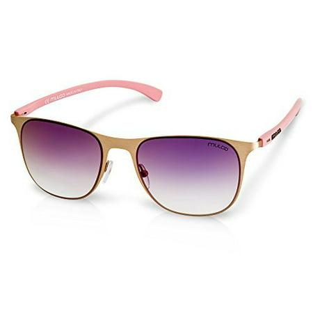 Mulco Illusion WF C1 Rose Gold Frame / Purple Gradient Lens 45 mm (Sunglasses Illusion)