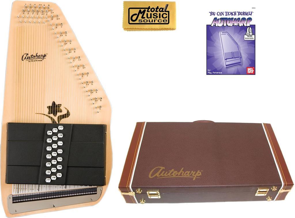 Oscar Schmidt 21 Chord Autoharp, Appalachian, Ideal Bluegrass OS45C AC449PACK by Oscar Schmidt