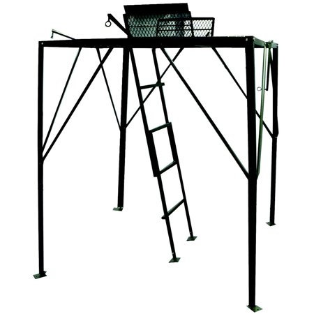 Hunter 39 s pointe elevated hunting platform quad pod for Deer hunting platforms